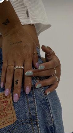 Dainty Tattoos, Mini Tattoos, Small Tattoos, Cute Acrylic Nails, Gel Nails, Red Tip Nails, Milky Nails, Fire Nails, Minimalist Nails