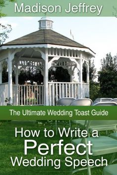 How to Write a Perfect Wedding Speech (The Ultimate Wedding Toast Guide) by Madison Jeffrey, http://www.amazon.com/dp/B00C3L3FQ0/ref=cm_sw_r_pi_dp_tXzDub0CN87DW  This book is proudly promoted by EliteBookService.com