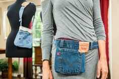 Orly Shani has a creative way to use your old jeans by turning them into a fashionable fanny pack.