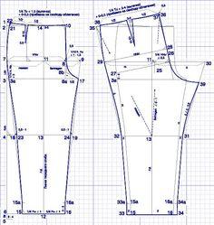 """Construimos un pantalón patrón de """"lujo"""" de las mujeres. Comentarios: LiveInternet - Russian Servicio Diarios Online:"""