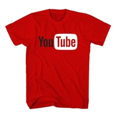T-Shirt Youtube Logo unisex mens womens S, M, L, XL, 2XL color grey and white. Youtuber t-shirt free shipping USA and worldwide.