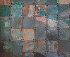 patina copper tiles