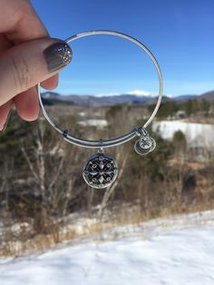 """ALEX AND ANI Compass Charm Bangle 