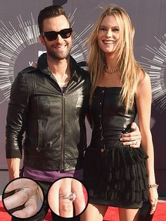 Adam Levine and Behati Prinsloo Make First Appearance as a Married Couple at the VMAs