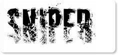 Grunge sniper font