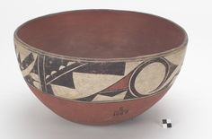 Dough bowl (probably Acoma Pueblo [attributed]), circa 1880, pottery and paint.