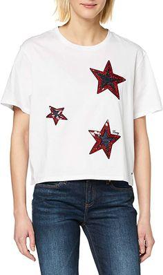 Sommershirt  Bekleidung, Damen, Tops, T-Shirts & Blusen, T-Shirts Tommy Hilfiger T Shirt, Tommy Hilfiger Damen, Shirt Bluse, T Shirts For Women, Tees, Classic, Fashion, Women's T Shirts, Summer
