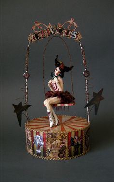 Circus Girl on Swing 1 by wingdthing.deviantart.com