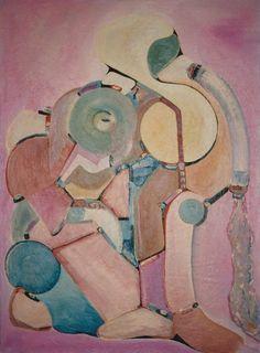 TIDEN, olie på lærred (115x76) 1986 af Svend Christensen