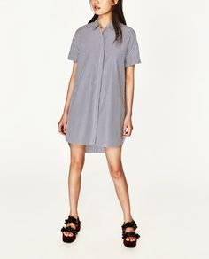 Image 2 of LONG STRIPED SHIRT from Zara