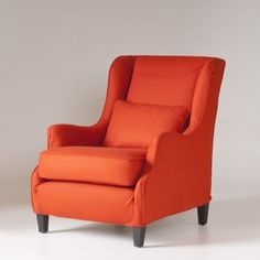 Stephenson Chair Slipcover - Orange Jewel Tone Wool $550