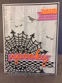 Spooky Halloween Card Handmade using Stampin' Up! Among the Branches Stamp Set…
