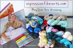 Expression Fiber Arts May / June 2016 yarn giveaway. Enter now! Ends June 15th.