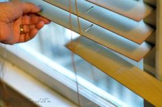 DIY Paint your wood blinds  So glad I found this - I need to do this for the new house...wood blinds ALL around!