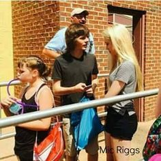 Chandler Riggs and Brianna