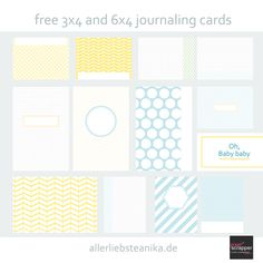 oh baby free project life journaling card kit