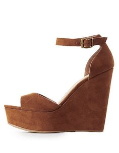 11c2681009b9 Bamboo Platform Ankle Buckle Sandals  Charlotte Russe Cute Wedges