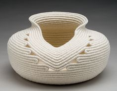 concepts, forms, materials, techniques, and processes related to basketry Sisal, Rope Basket, Basket Weaving, Coil Pots, Pine Needle Baskets, Fabric Bowls, Jute Crafts, Rope Art, Fabric Scraps