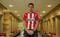 New Signing Sebastian Coates of Sunderland is unveiled at the Academy...