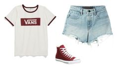 """""""Untitled #576"""" by danieledepaula ❤ liked on Polyvore featuring Vans, T By Alexander Wang and Converse"""