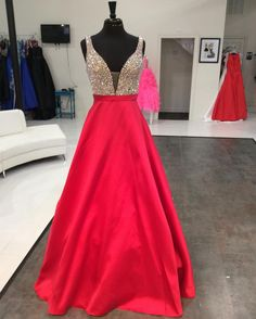 Prom Dresses,Evening Dress,New Arrival Prom Dress,Modest Prom Dress,red