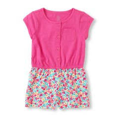 The Childrens Place - A vibrant color and floral print combo - it's a must-have summer style that pops!