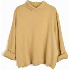 Vintage Oversized Turtleneck Sweater Top in Camel Fuzzy Sweater... ($52) ❤ liked on Polyvore featuring tops, sweaters, fuzzy sweater, oversized fuzzy sweater, polo neck sweater, beige top and oversized vintage sweaters