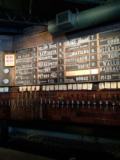 Beer taps at The Hay Merchant in Houston. The best beer selection in Htown and very knowledgable staff.