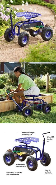 Garden Kneelers Pads And Seats 75669: Iris Rolling Scoot N Do Garden Seat