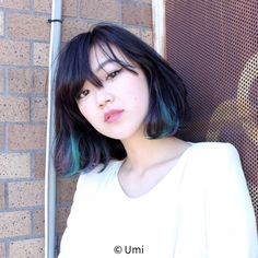 New hair dyed 2018 ideas Bob Hair Color, Hair Color Streaks, Hair Color Purple, Hair Highlights, Medium Hair Styles, Short Hair Styles, Edgy Hair, Trendy Hair, Asian Hair
