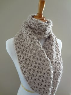 chain scarf patterns | ... in Stitching: Free Crochet Pattern...Pavement Infinity Scarf