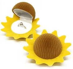 Yellow and Brown Sunflower Earring Gift Boxes Ring Boxes Necklace Box Gift Jewelry Box, http://www.amazon.com/dp/B00WWNBYV2/ref=cm_sw_r_pi_s_awdm_gjUJxb6B3B73X
