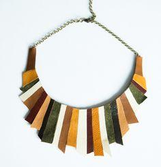 colier_sash_L197 Handmade Accessories, Earthy, Diva, Urban, Fashion Ideas, Leather, Blog, Jewelry, Green