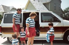 Remember when it was hard to remember who was in your family, so you dressed each member alike?