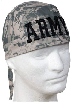 bc28dff140e Camouflage ARMY ACU Desert Digital Head Wrap Doo Rag Camo Durag Skull Cap  Cotton Sporty Motorcycle Hat