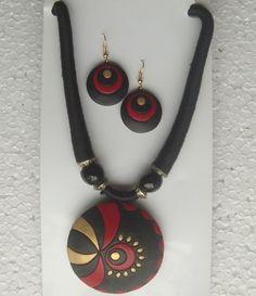 circle designs terracota jewelry sets wholesale exporter