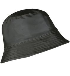 dfcd9bd1 Women's Rain Hats Bucket Waterproof Rain Hat Wide Brim Bucket Hat Rain Cap  - Solid Black - CZ17AAHCKRE