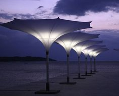 You'll be made in the shade with these unique parasol umbrellas from MDT. The Tulip Parasol features an unusual tulip-shaped shade that comes is a range Ikea Canopy, Canopy Curtains, Diy Canopy, Canopy Tent, Canopy Bedroom, Fabric Canopy, Umbrella Lights, Sun Umbrella, Arquitetura