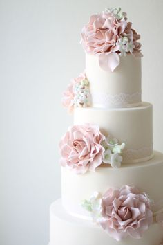 Ivory & Rose Cake Co - Spring flowers wedding cake
