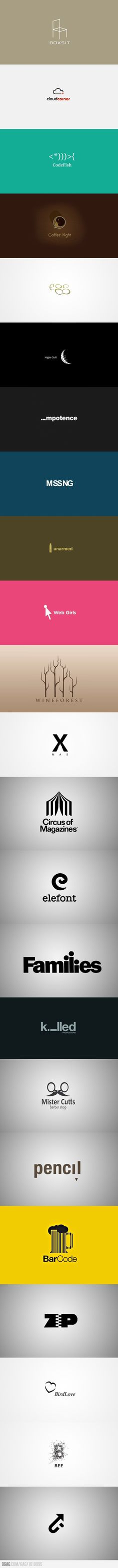 clever logos- it's a twofer. One part company, one part art