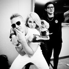 CL's IG with Diplo and Skrillex