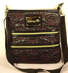 Betsey Johnson Betseyville Skull Pattern Cross Body Shoulder Bag #BetseyJohnson #Shouldercrossbody