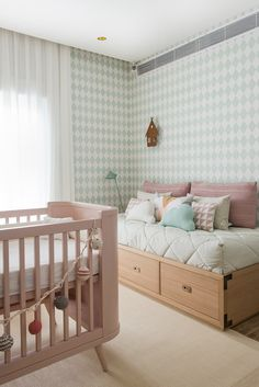 Way home: design Baby Bedroom, Baby Boy Rooms, Baby Room Decor, Girls Bedroom, Decoration Inspiration, Baby Design, Girl Room, Toddler Bed, House Styles