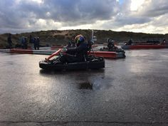Kartin in wet conditions, great fun! Did a small competition, but at the start of the race my brakes completely failed. Still managed to finish in 2nd!