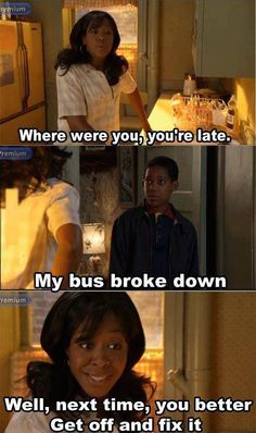 Everybody Hates Chris love this tv show Funny People, Funny Things, Funny Stuff, Funny Shit, Tv Show Quotes, Yesterday And Today, Just For Laughs, Best Shows Ever, Best Tv
