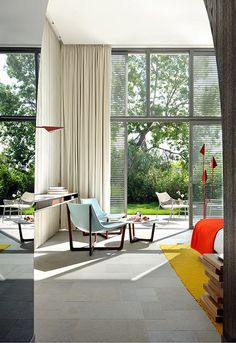 French designer Christophe Pillet created the interiors of the #Hotel Sezz in Saint-Tropez, France.