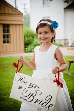 Here Comes the Bride Sign - Just Married Sign - and they lived happily ever after sign  - two sided sign