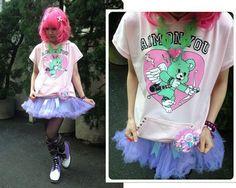 Aim on you cupid bear fairy kei short sleeves hoodie