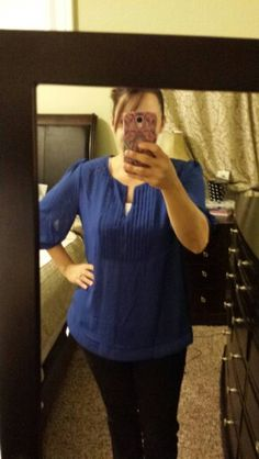 Stitchfix #3.  Angela quilted detailed blouse (L).  Love this shirt and the color but it is a little big.