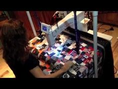 ▶ Free Motion Quilting Help- Jennoop Quilt Suspenders and Stand - YouTube
